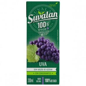 Suco Suvalan Uva s/ Açúcar 200ml  - 3 unid.